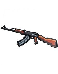 Игрушечное оружие Автомат АК 47 8 Бит пиксельный 68 см со светом и звуком Pixel crew
