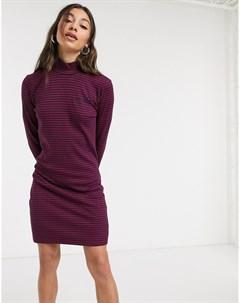 Облегающее платье в рубчик Фиолетовый Tommy jeans