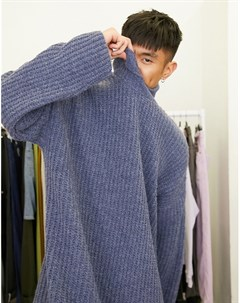 Синий длинный oversized свитер Asos design