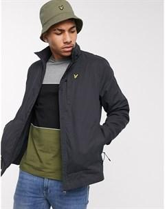 Черная легкая куртка с высоким воротником Черный Lyle & scott