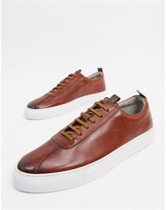 Светло коричневые кожаные кроссовки Grenson