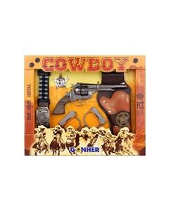 Игрушечное оружие Ковбойский набор на 12 пистонов Gonher