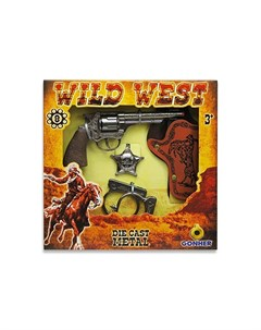 Игрушечное оружие Ковбойский набор с револьвером на 8 пистонов Gonher