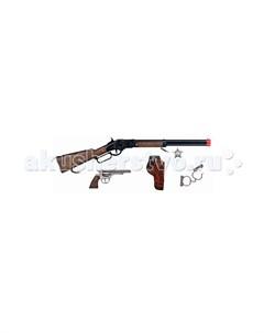 Игрушечное оружие Ковбойский игровой набор с винтовкой на 8 пистонов Gonher
