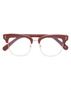 Очки в половинчатой оправе Stella mccartney eyewear