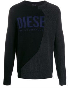 джемпер вязки интарсия с логотипом Diesel