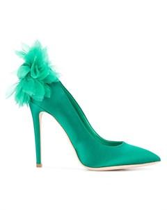 Туфли с аппликацией цветком Chrysantheme Olgana