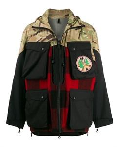 Куртка с капюшоном и контрастными вставками Griffin