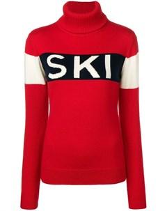 Свитер вязки интарсия с надписью Ski Perfect moment