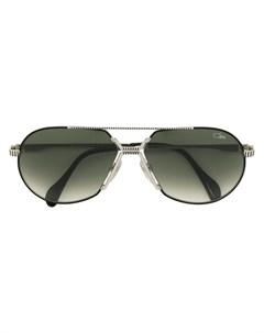 Солнцезащитные очки авиаторы с затемненными линзами Cazal