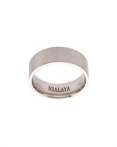 изогнутое кольцо с эффектом потертости Nialaya jewelry