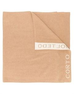 Шарф вязки интарсия с логотипом Corto moltedo