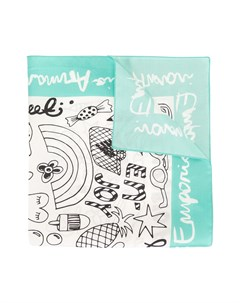 Платок с абстрактным принтом Emporio armani kids