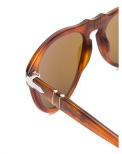 Солнцезащитные очки авиаторы черепаховой расцветки Persol