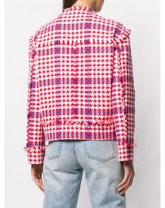 Укороченный пиджак в ломаную клетку Msgm