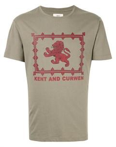 Футболка с изображением льва Kent & curwen