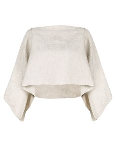 Укороченный расклешенный свитер Voz
