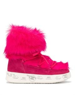 ботинки с искусственным мехом Premiata