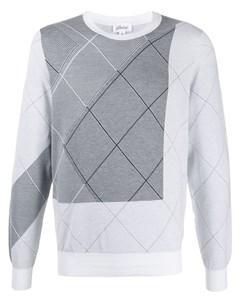 пуловер с геометричным узором Brioni