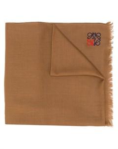 Кашемировый шарф с вышитым логотипом Loewe