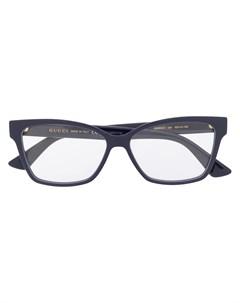 Очки в прямоугольной оправе Gucci eyewear