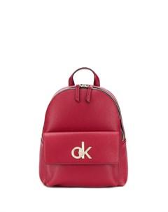 рюкзак с металлическим логотипом Calvin klein