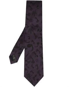 галстук с вышитым логотипом Gieves & hawkes