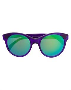 Солнцезащитные очки в круглой оправе с зеркальными линзами Illesteva