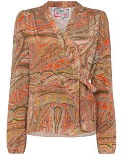 Блузка Haidee с принтом пейсли и запахом By walid