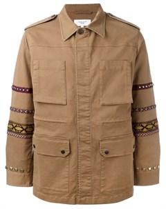 Куртка с вышивкой на рукавах Fashion clinic timeless