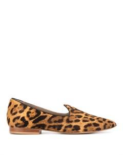 Лоферы с леопардовым принтом Le monde beryl