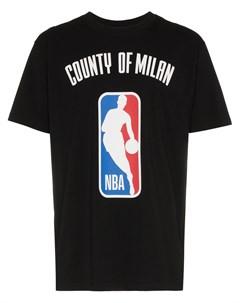 Футболка с логотипом NBA Marcelo burlon county of milan
