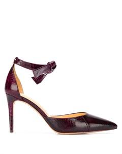 Туфли лодочки с тиснением под змеиную кожу Alexandre birman
