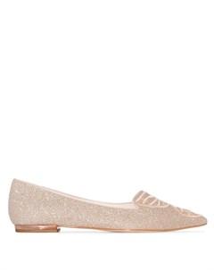 Туфли лодочки с вышитой бабочкой Sophia webster
