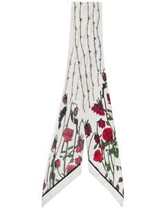 Узкий шарф с принтом Rose Rockins