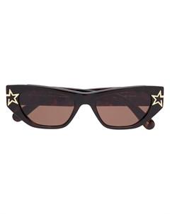 Солнцезащитные очки в массивной оправе Stella mccartney eyewear