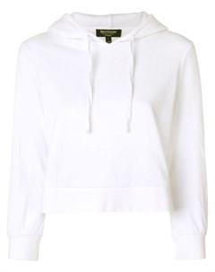 укороченный велюровый пуловер с капюшоном Juicy couture