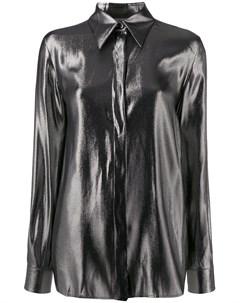 Рубашка с эффектом металлик Alberta ferretti