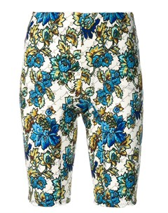Облегающие шорты с цветочным принтом Stella mccartney