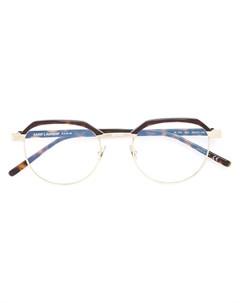 Очки с панелями с узором черепашьего панциря Saint laurent eyewear