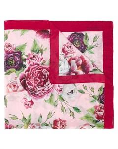 Квадратный платок с цветочным принтом Dolce & gabbana kids