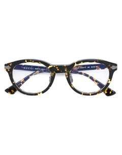 Очки с эффектом черепашьего панциря Gucci eyewear