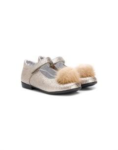 туфли с помпонами Monnalisa