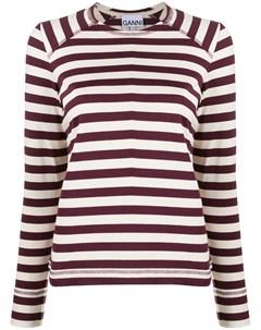 пуловер в полоску Ganni