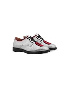 туфли с блестками на шнуровке Gucci kids