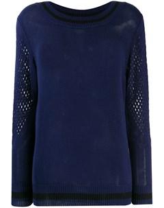 свитер с сетчатой деталью Mr & mrs italy
