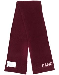 Шарф с контрастным логотипом Oamc