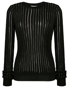 прозрачный свитер в полоску Helmut lang