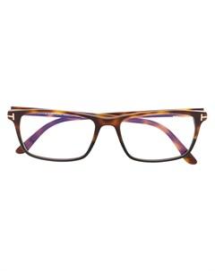 Очки в квадратной оправе черепаховой расцветки Tom ford eyewear