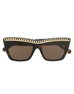 Солнцезащитные очки Falabella в квадратной оправе Stella mccartney eyewear